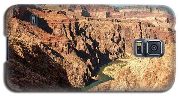 Black And Silver Bridges Spanning The Colorado River  Grand Canyon National Park Galaxy S5 Case