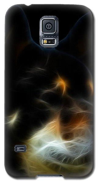Black And Tan Shiba Inu Galaxy S5 Case by Stuart Turnbull