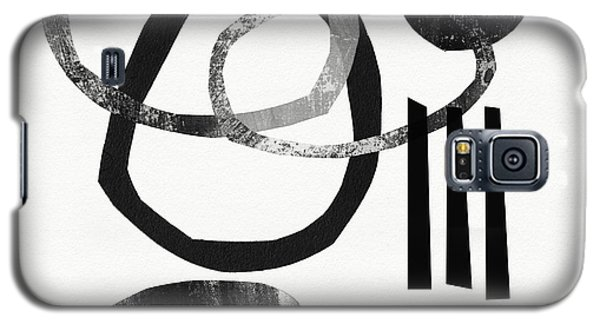 Black And White- Abstract Art Galaxy S5 Case