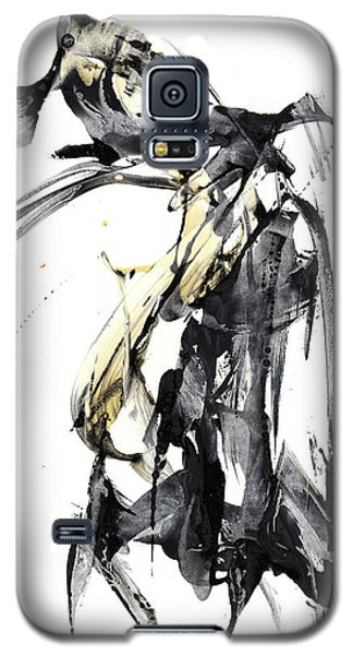 Black And White Abstract Expressionism Series 7344.072009 Galaxy S5 Case by Kris Haas