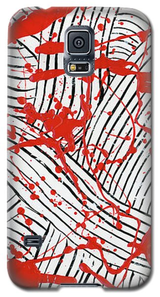 Black And White And Red All Over 1 Galaxy S5 Case