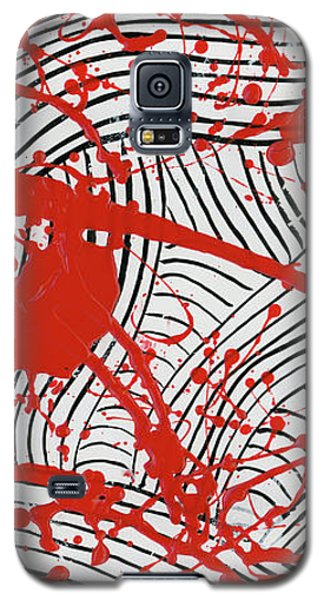 Black And White And Red All Over 2 Galaxy S5 Case