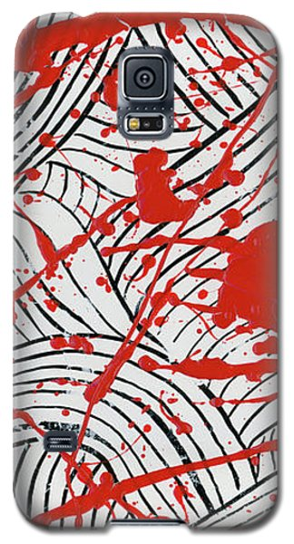 Black And White And Red All Over 3 Galaxy S5 Case