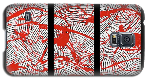 Black And White And Red All Over Galaxy S5 Case