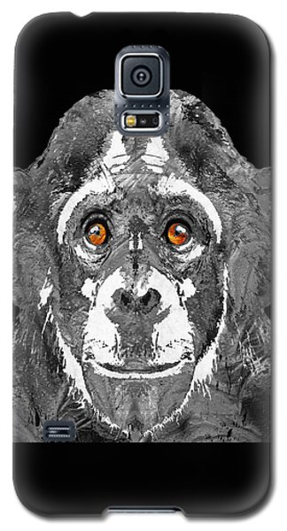 Black And White Art - Monkey Business 2 - By Sharon Cummings Galaxy S5 Case by Sharon Cummings