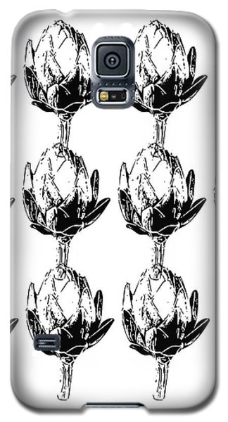 Black And White Artichokes- Art By Linda Woods Galaxy S5 Case by Linda Woods