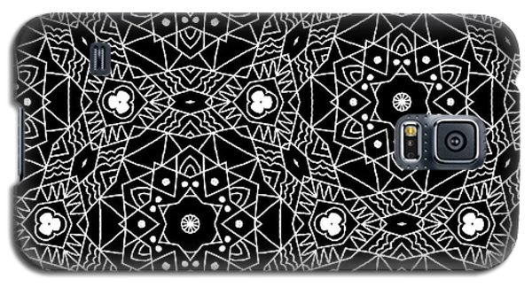 Black And White Boho Pattern 3- Art By Linda Woods Galaxy S5 Case by Linda Woods