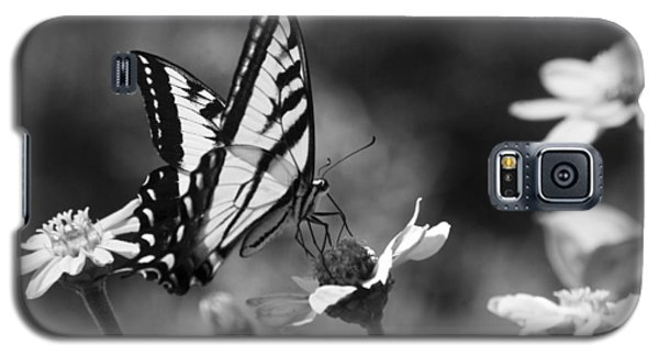 Black And White Butterfly On Flower Galaxy S5 Case