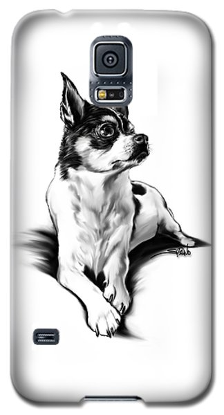 Black And White Chihuahua By Spano Galaxy S5 Case