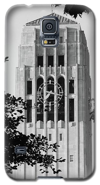 Black And White Clock Tower Galaxy S5 Case