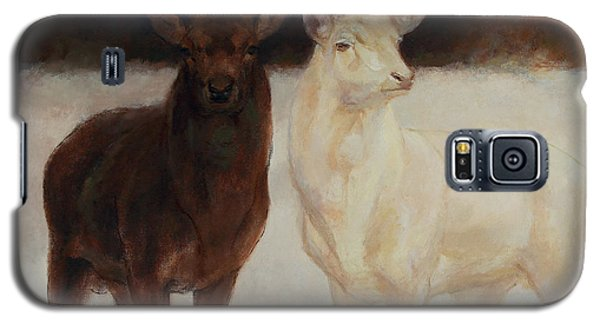 Black And White Fallow Deers Galaxy S5 Case