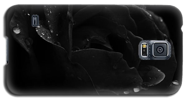 Black And White Flower Fifteen Galaxy S5 Case by Kevin Blackburn