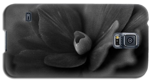 Black And White Flower Fifty Galaxy S5 Case by Kevin Blackburn