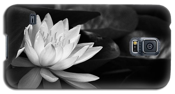 Black And White Flower Nine Galaxy S5 Case by Kevin Blackburn