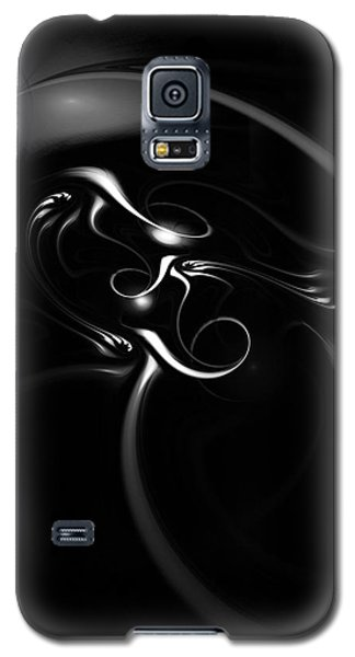Black And White Fractal 080810b Galaxy S5 Case