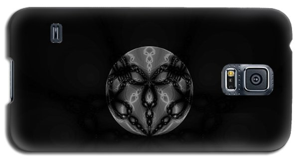 Black And White Globe Fractal Galaxy S5 Case