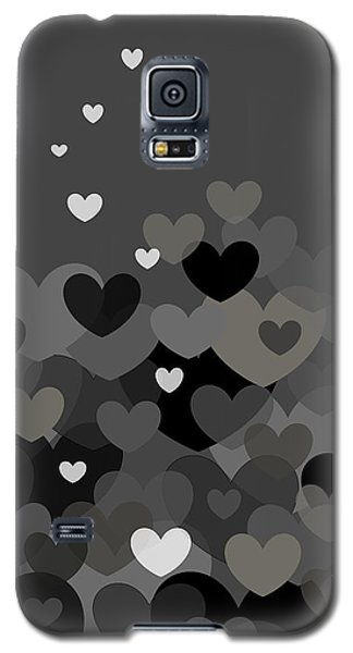 Black And White Heart Abstract Galaxy S5 Case by Val Arie