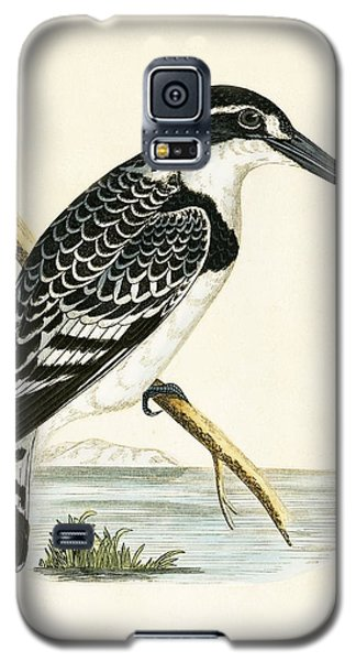 Black And White Kingfisher Galaxy S5 Case by English School