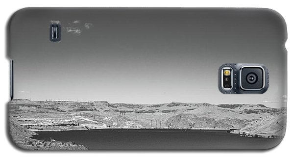 Galaxy S5 Case featuring the photograph Black And White Landscape Photo Of Dry Glacia Ancian Rock Desert by Jingjits Photography