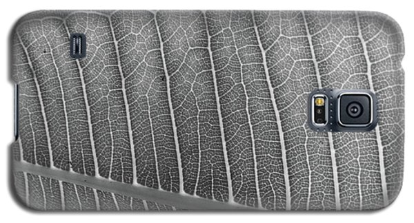 Black And White Leaf Galaxy S5 Case
