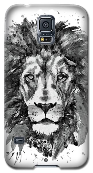 Black And White Lion Head  Galaxy S5 Case