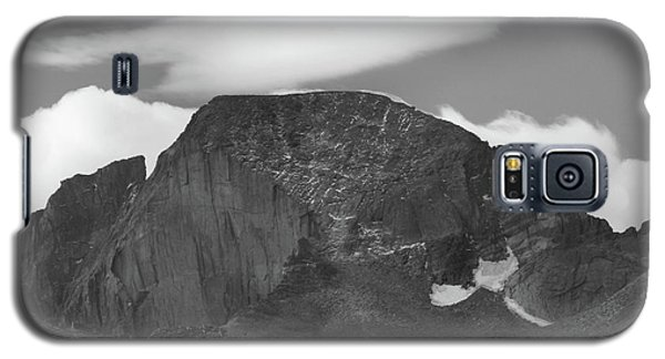 Galaxy S5 Case featuring the photograph Black And White Longs Peak Detail by Dan Sproul