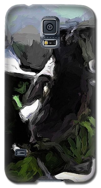 Black And White Magpie On The Porch Galaxy S5 Case