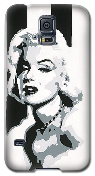 Black And White Marilyn Galaxy S5 Case by Ashley Price