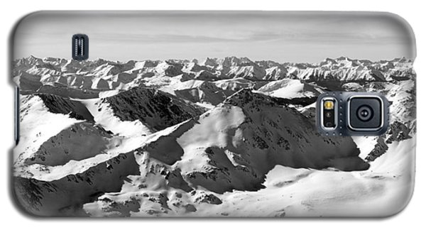 Black And White Of The Summit Of Mount Elbert Colorado In Winter Galaxy S5 Case