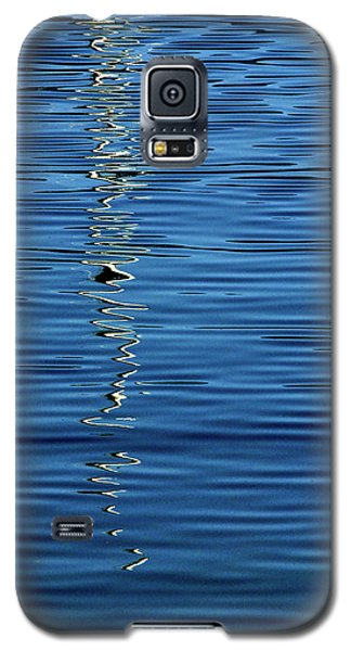 Galaxy S5 Case featuring the photograph Black And White On Blue by Tom Vaughan