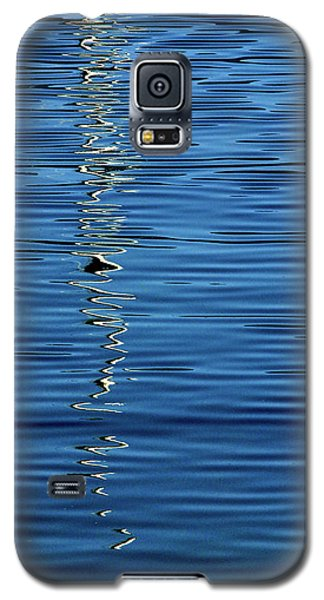 Black And White On Blue Galaxy S5 Case