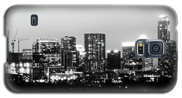 Black And White Panoramic View Of Downtown Austin Galaxy S5 Case