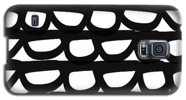 Black And White Pebbles- Art By Linda Woods Galaxy S5 Case by Linda Woods