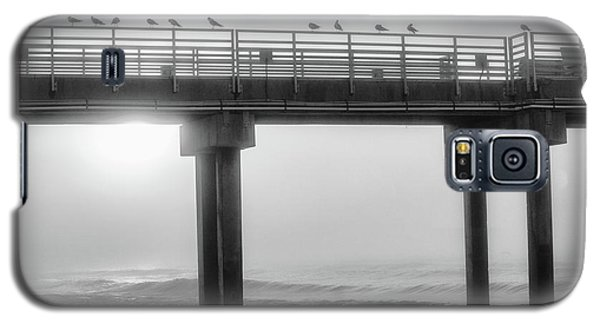 Galaxy S5 Case featuring the photograph Black And White Pier Alabama  by John McGraw