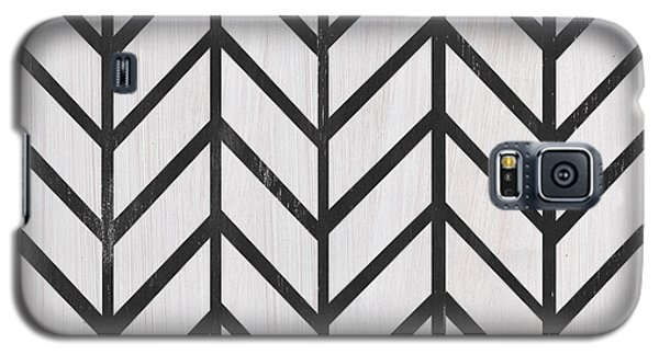 Galaxy S5 Case featuring the painting Black And White Quilt by Debbie DeWitt