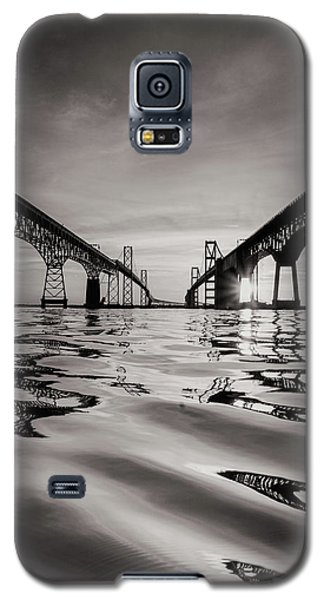 Galaxy S5 Case featuring the photograph Black And White Reflections by Jennifer Casey