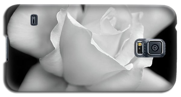 Galaxy S5 Case featuring the photograph Black And White Rose Flower by Jennie Marie Schell