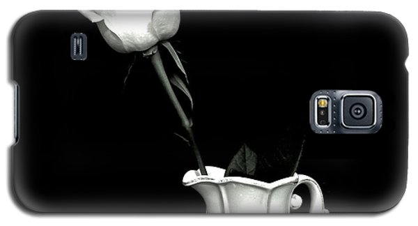 Galaxy S5 Case featuring the photograph Black And White Rose Three by Marsha Heiken