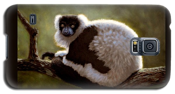 Black And White Ruffed Lemur Galaxy S5 Case