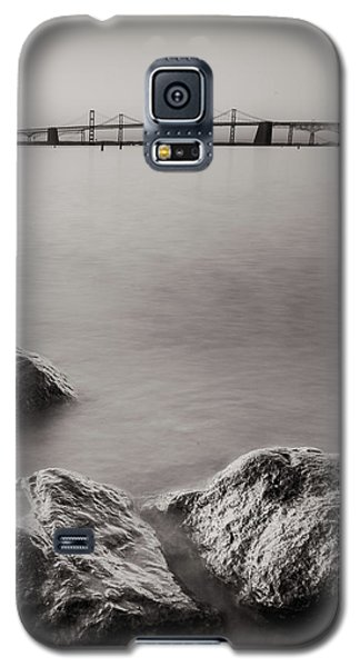 Galaxy S5 Case featuring the photograph Black And White Sandy Point by Jennifer Casey