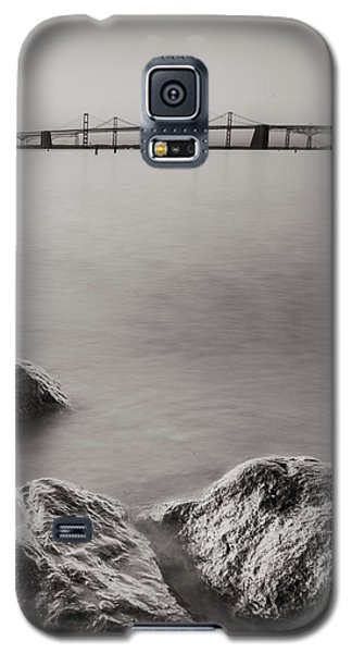 Black And White Sandy Point Galaxy S5 Case