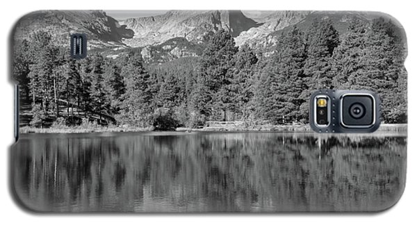 Galaxy S5 Case featuring the photograph Black And White Sprague Lake Reflection by Dan Sproul
