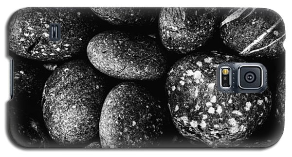 Black And White Stones One Galaxy S5 Case by Kevin Blackburn