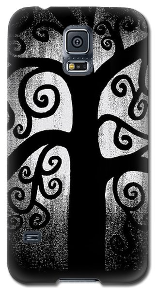 Black And White Tree Galaxy S5 Case by Angelina Vick