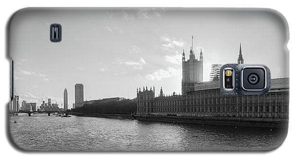 Black And White View Of Thames River And House Of Parlament From Galaxy S5 Case