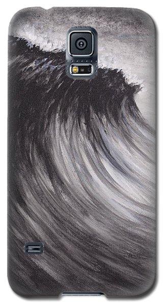 Black And White Wave Guam Galaxy S5 Case