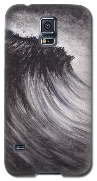 Black And White Wave Guam Galaxy S5 Case