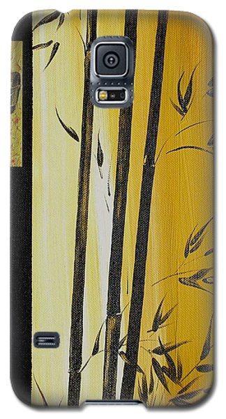 Galaxy S5 Case featuring the painting Black Bamboo Zen  by Dina Dargo