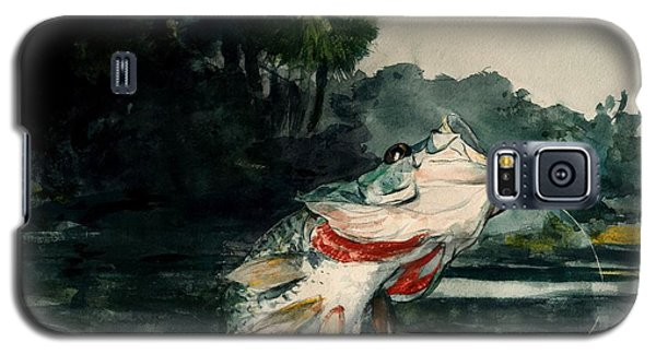 Galaxy S5 Case featuring the painting Black Bass by Pg Reproductions