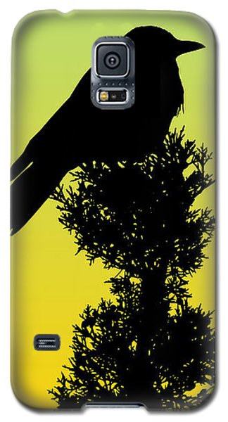 Black-billed Magpie Silhouette - Special Request Background Galaxy S5 Case